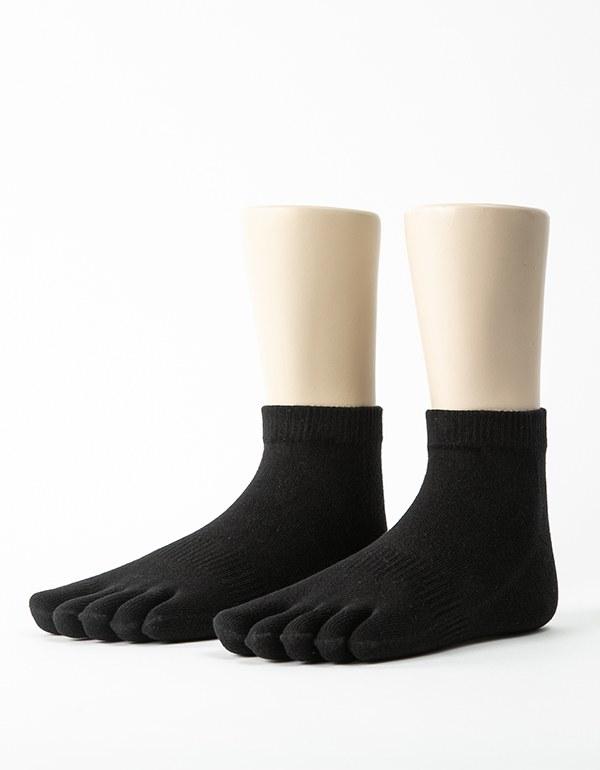 單色環狀五趾短襪