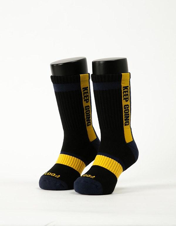 天生贏家運動氣墊襪-童