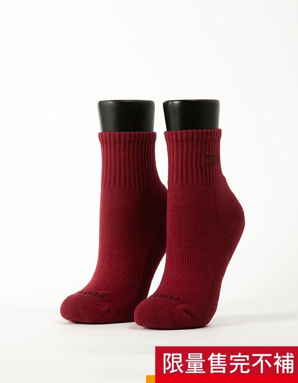 MARVEL.運動氣墊襪經典LOGO款(女)