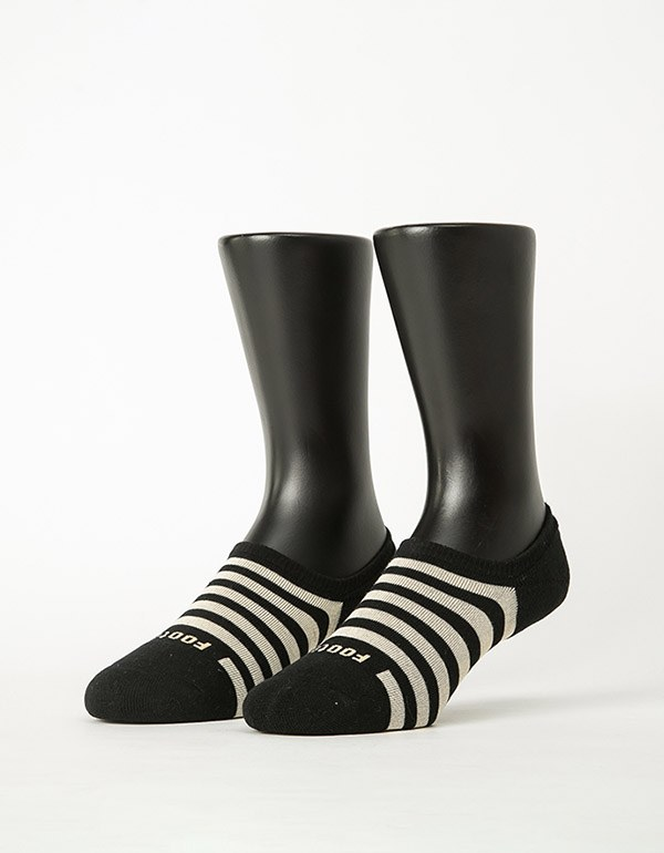 經典條紋船短隱形襪