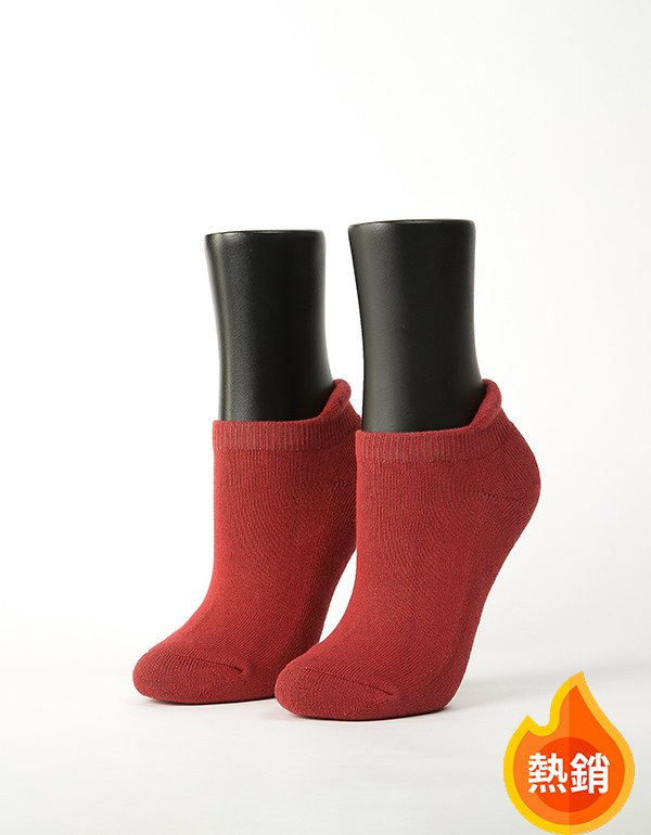 低調原色防磨船短襪