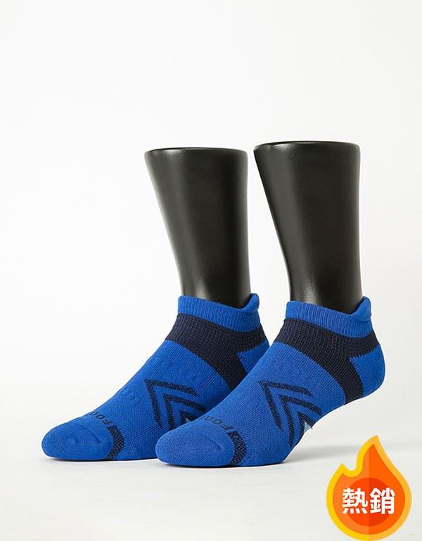 雙側翼護足輕壓力船短襪