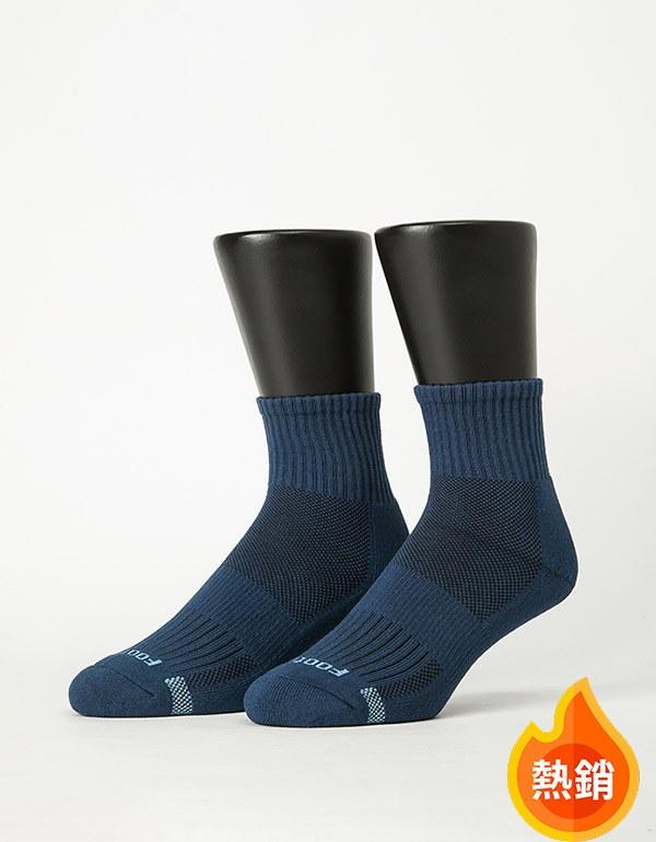 單色運動逆氣流氣墊襪