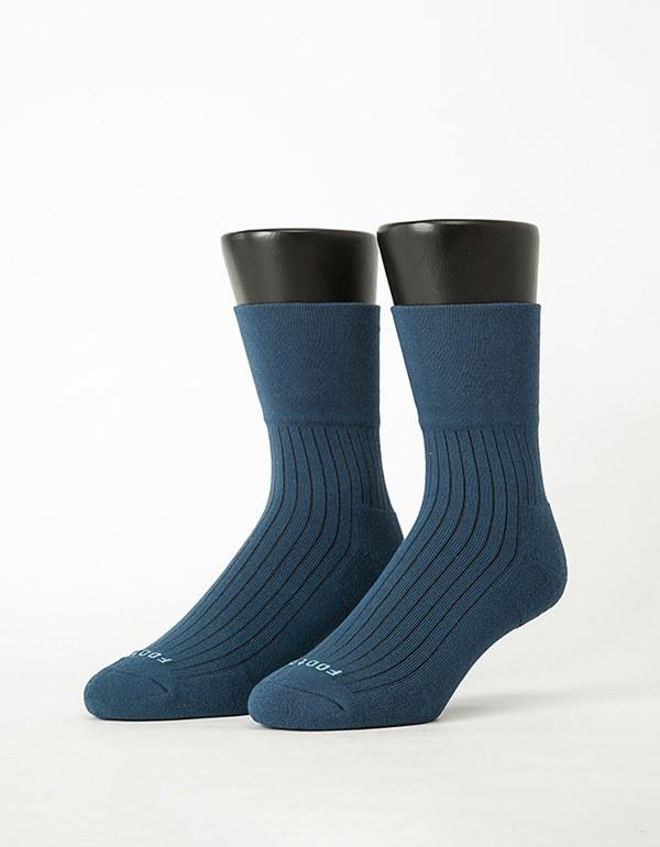 微分子氣墊紳士素面寬口襪