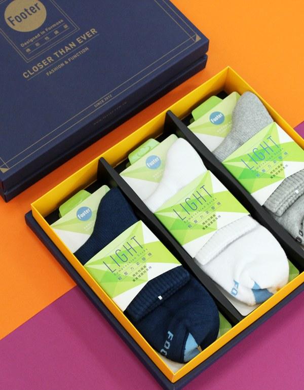 螺旋氣墊輕壓力襪禮盒組