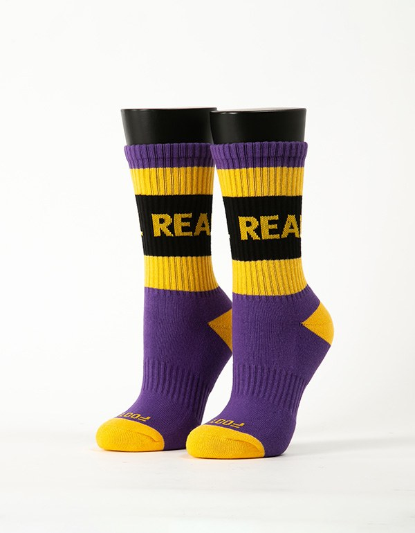率性自我運動氣墊襪