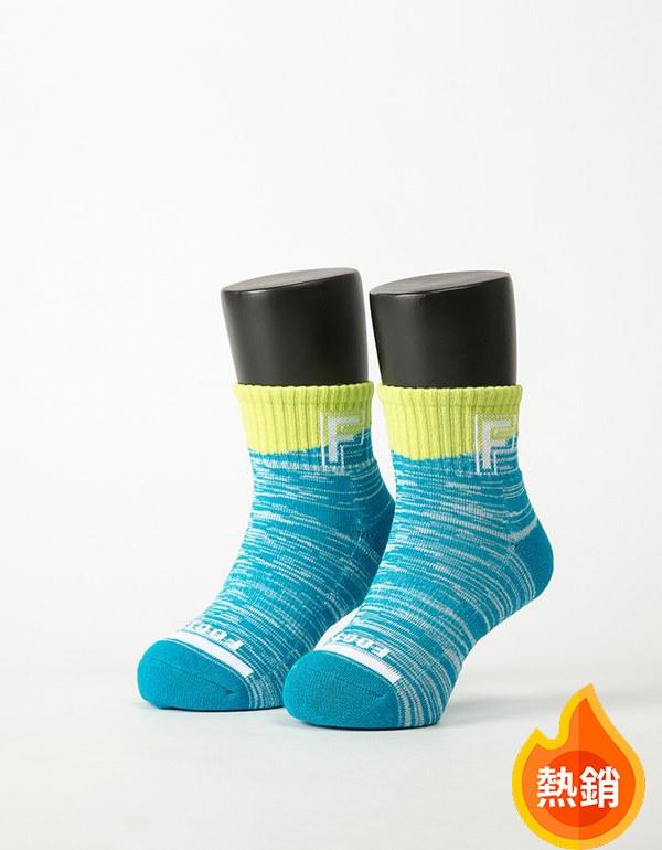 字母撞色花紗氣墊襪