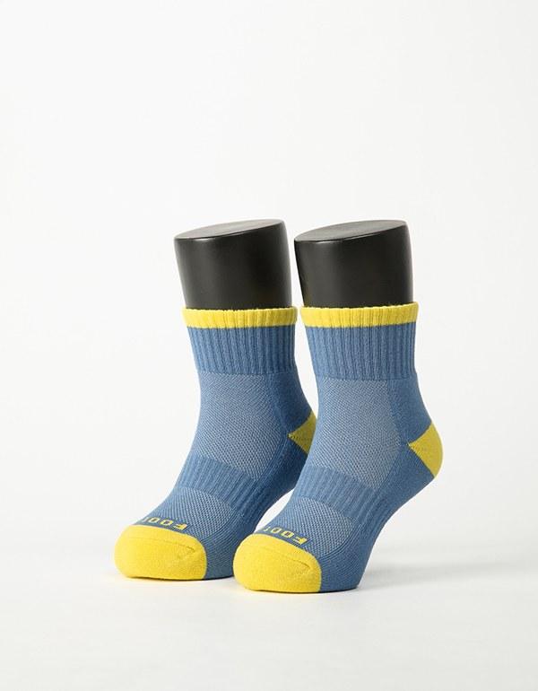 特-趣味拼色運動氣墊襪