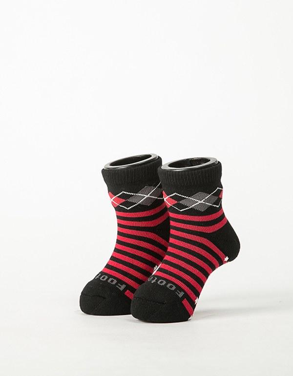 Baby止滑菱格氣墊襪