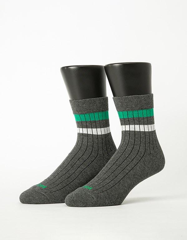 都會雙色線條薄襪