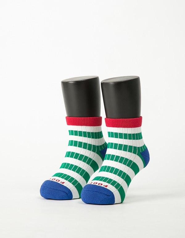 特-綜合條紋兒童薄襪