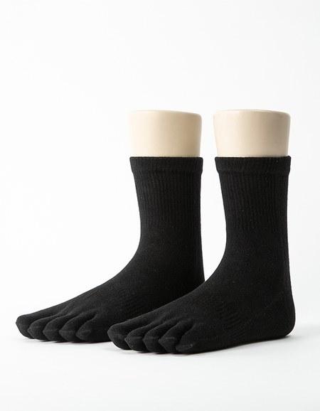 單色環狀五趾長襪