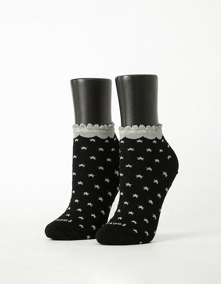 時尚星星花邊襪