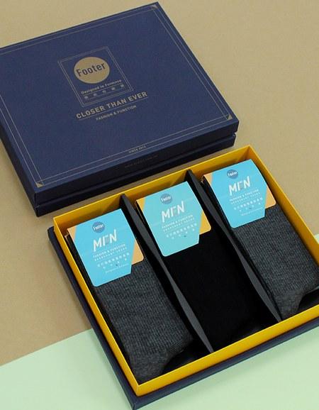 紳士素面長襪禮盒組