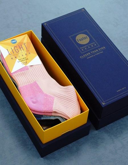 俄羅斯方塊輕壓力襪3入禮盒組