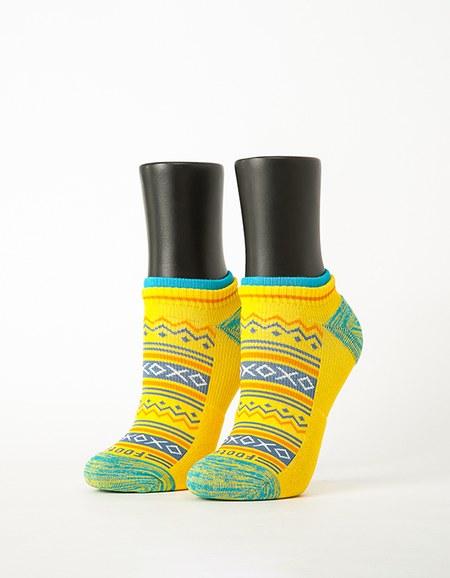 民族風格氣墊船短襪